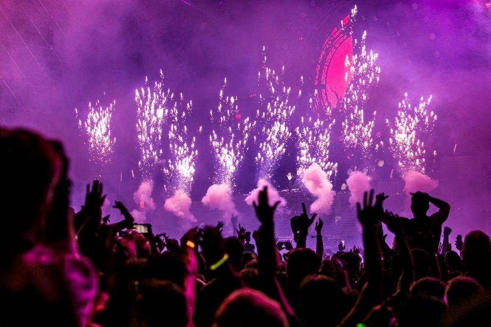 party celebration lights fireworks hands people glow plur show entertainment concert